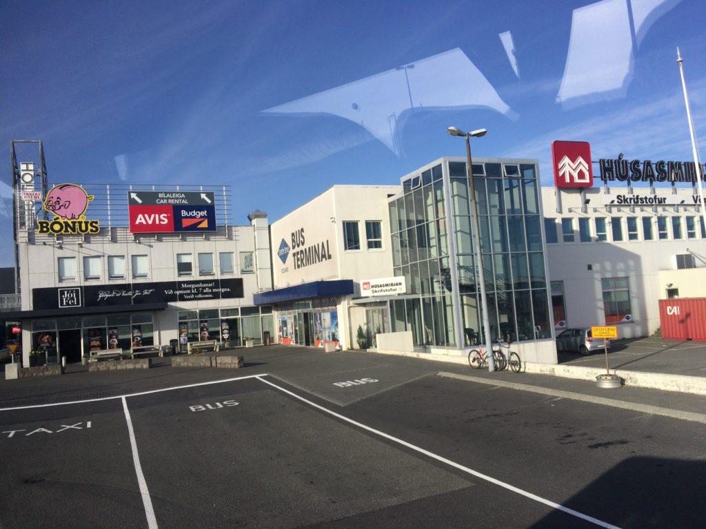 アイスランド空港から市内への行き方バス