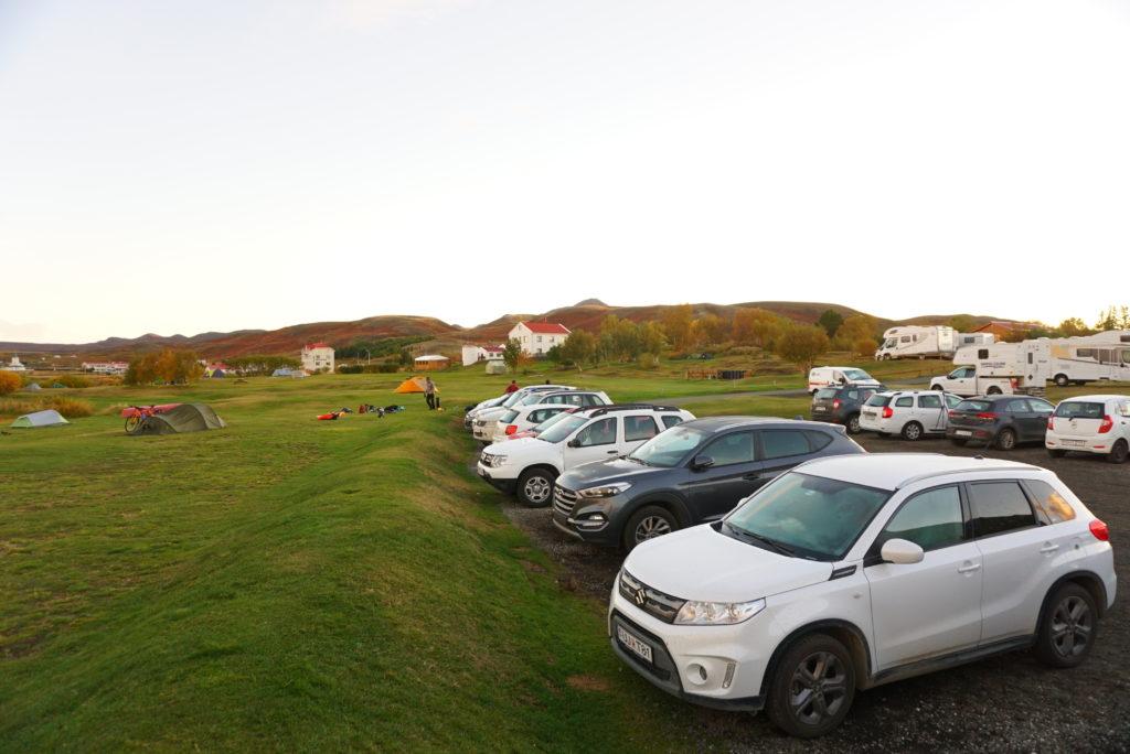 アイスランドキャンプ場