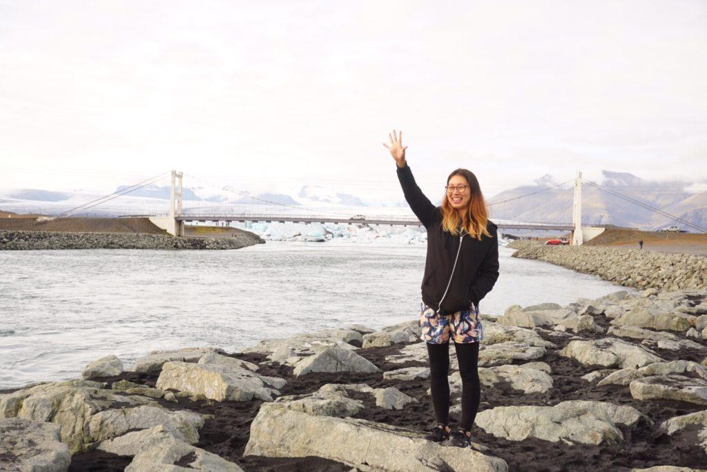 アイスランド海岸氷河