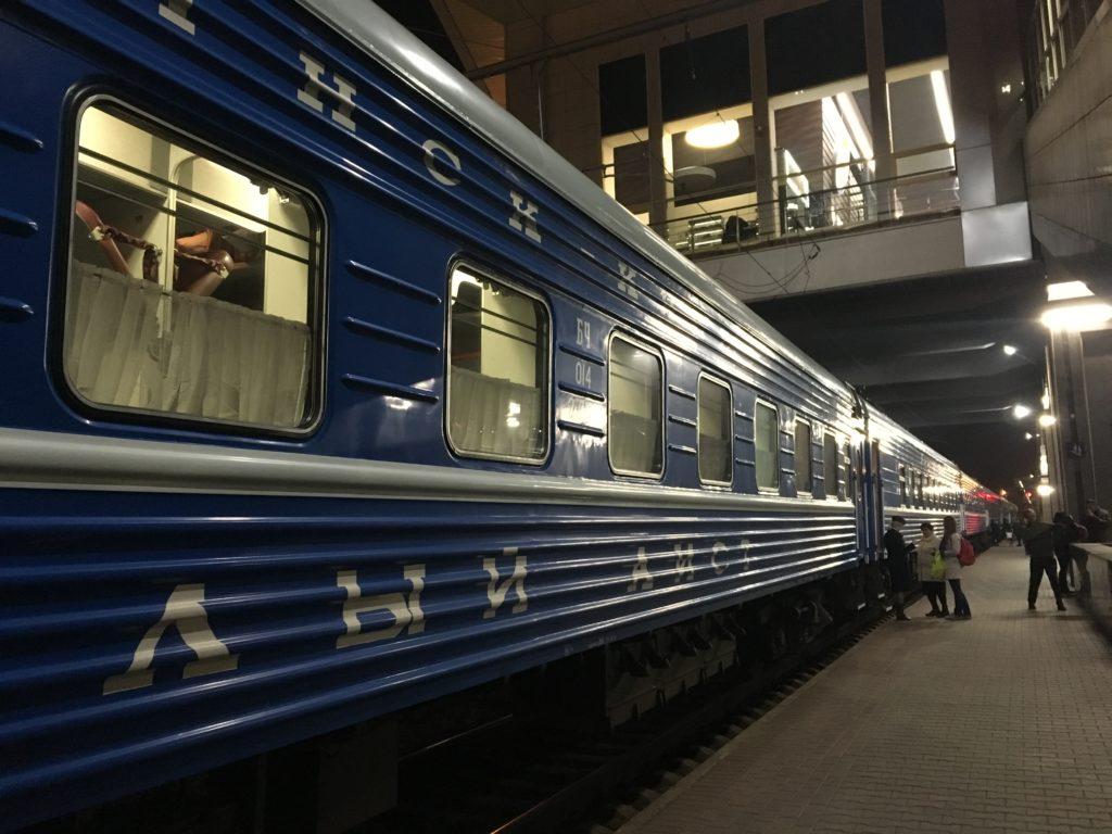ベラルーシからウクライナ列車