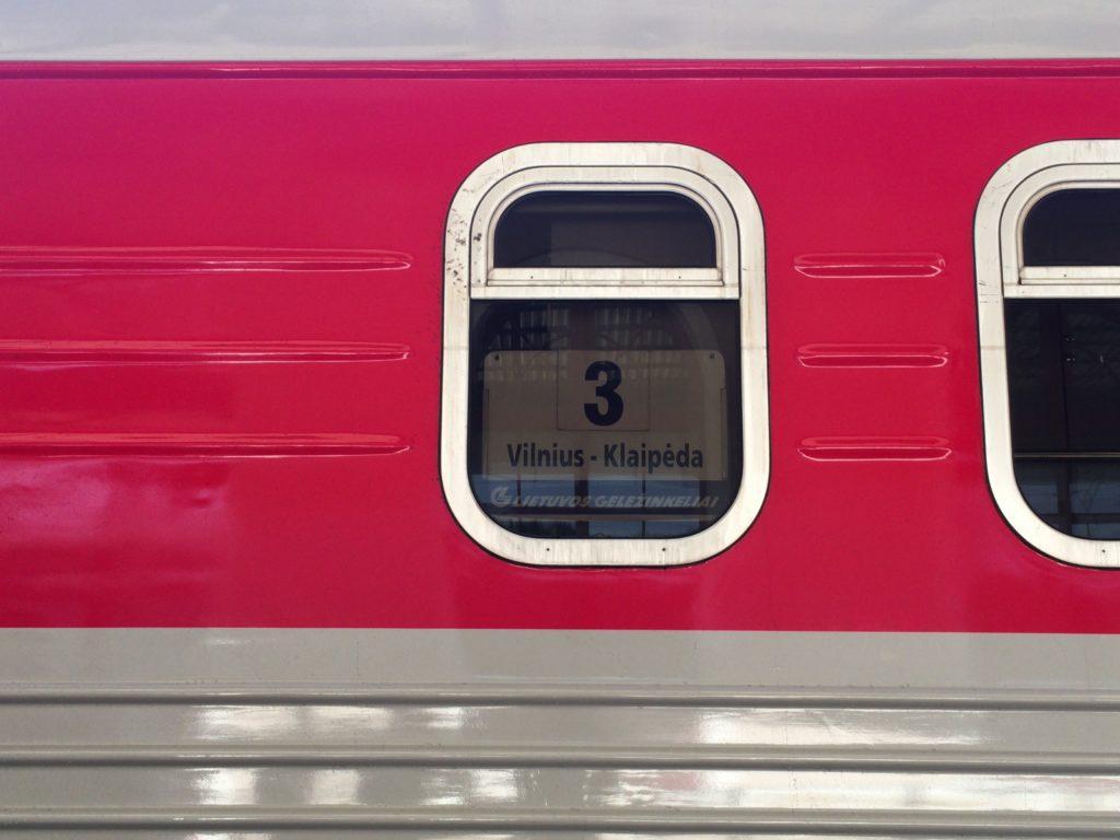 ヴィリニュス駅からシャウレイ駅へ