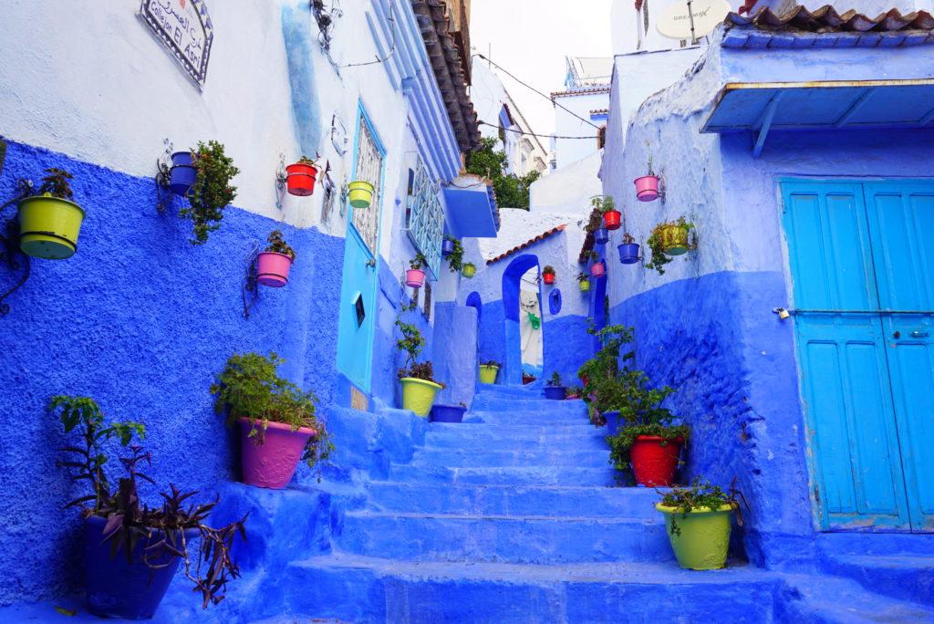 モロッコ 青の街