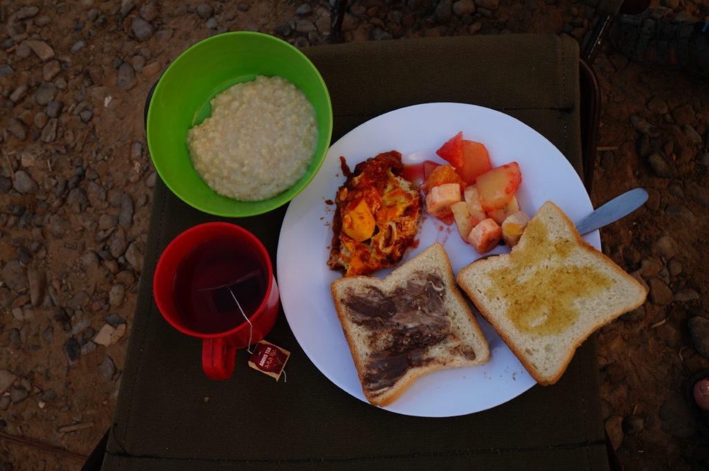 ダナキルツアー 朝食
