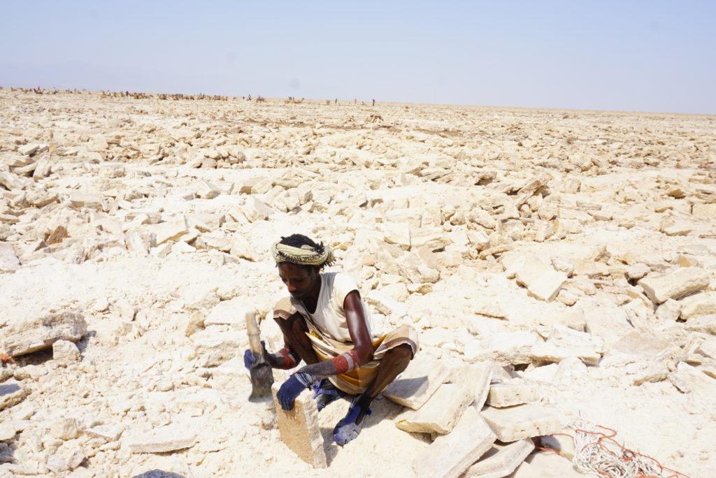 ダナキル 塩の採掘場