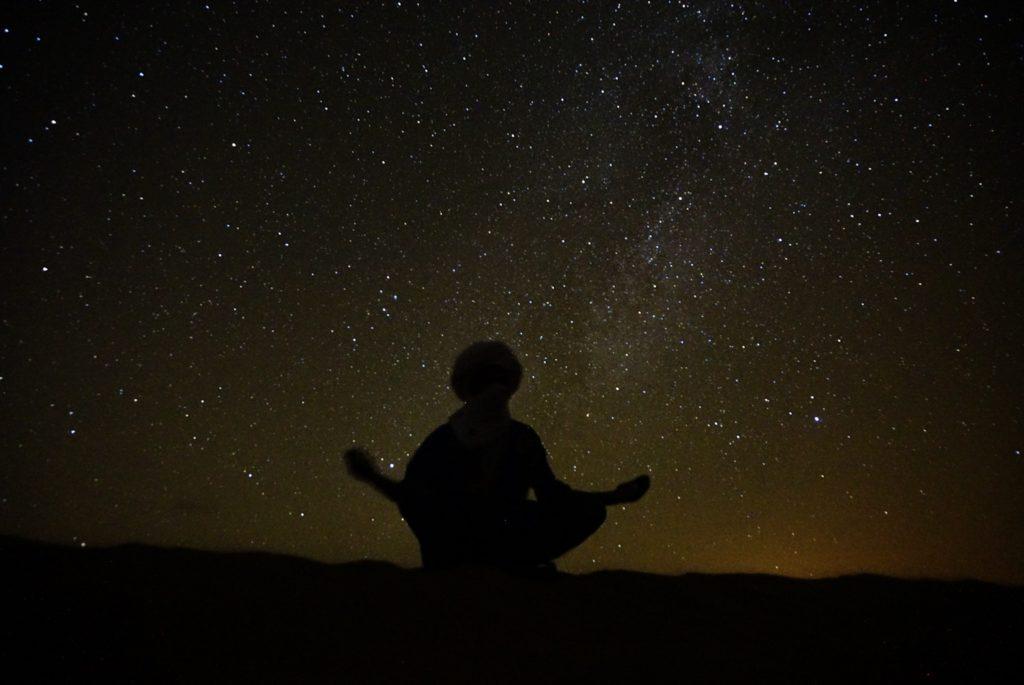 サハラ砂漠 星空