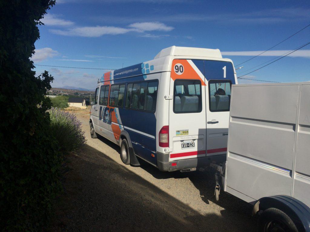 エルカラファテ空港シャトルバス