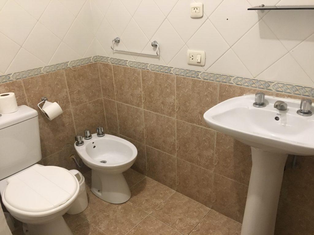 エルカラファテの安宿シャワールーム