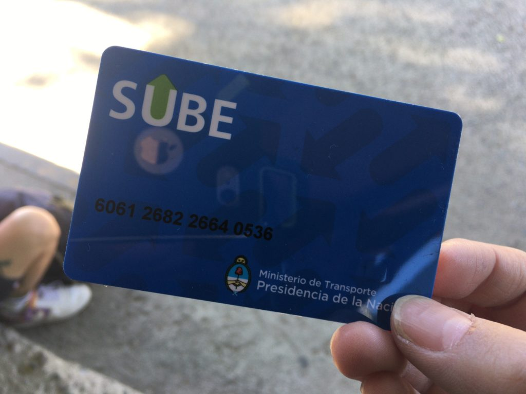 アルゼンチンバスカード
