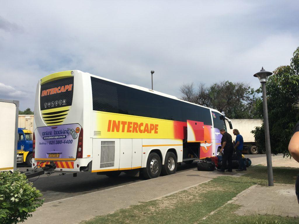 ザンビアからナミビア バス