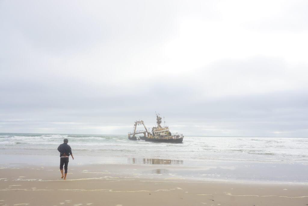 ナミビアの座礁船
