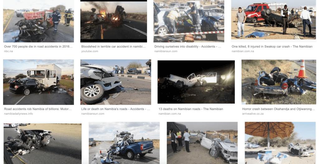 ナミビア 車の事故